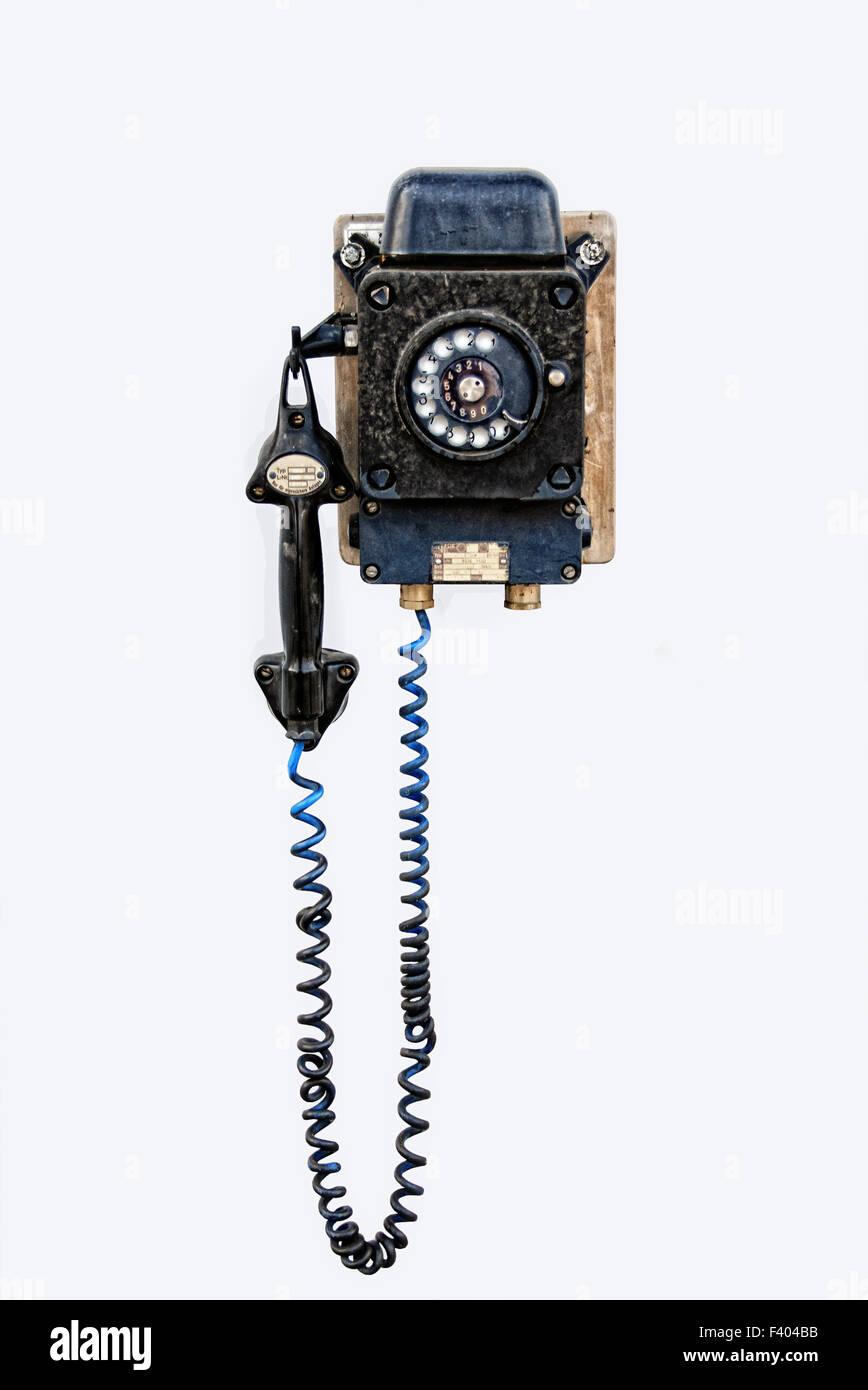 classic phone - Stock Image