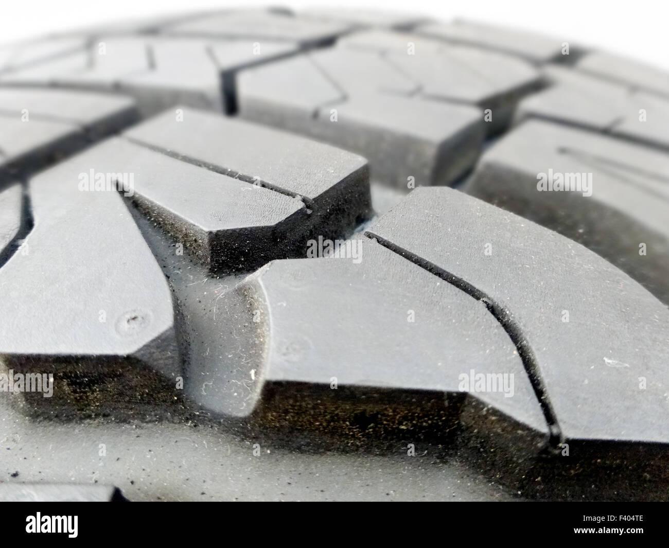 tire tread closeup in a tire shop - Stock Image