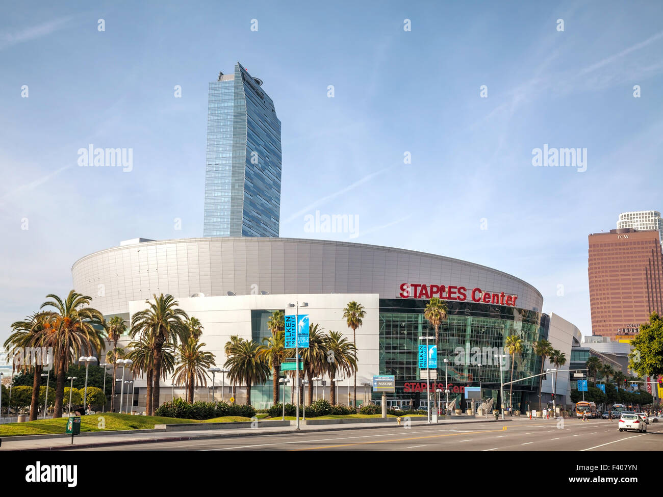 Staples Center in downtown Los Angeles, CA - Stock Image