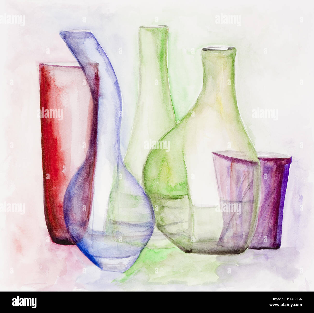 Gentle colored glass - Stock Image
