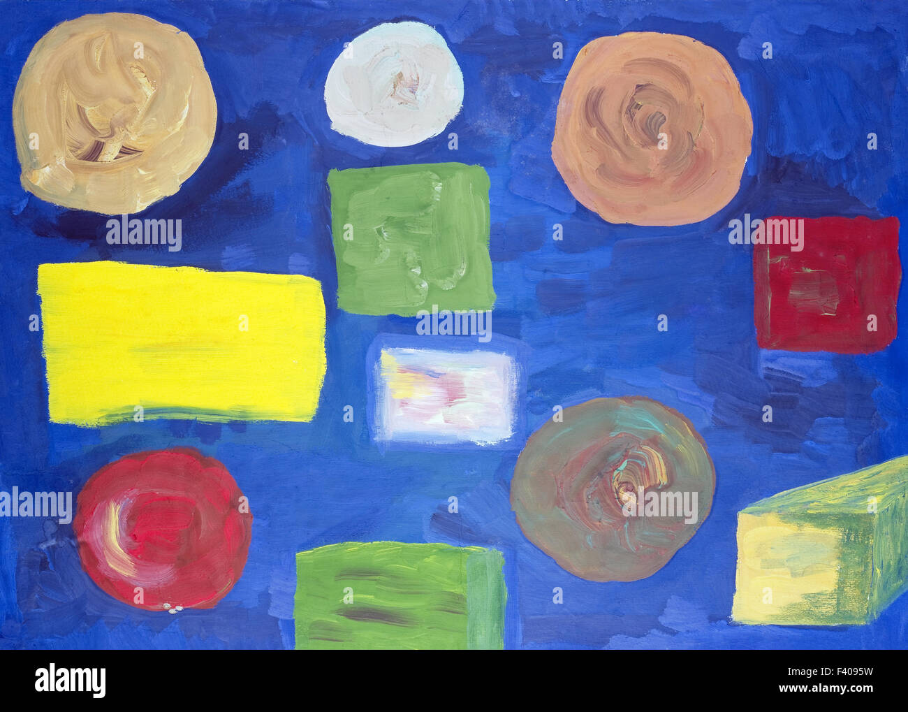 Oil Abstract Circles And Squares Stock Photo 88517685 Alamy