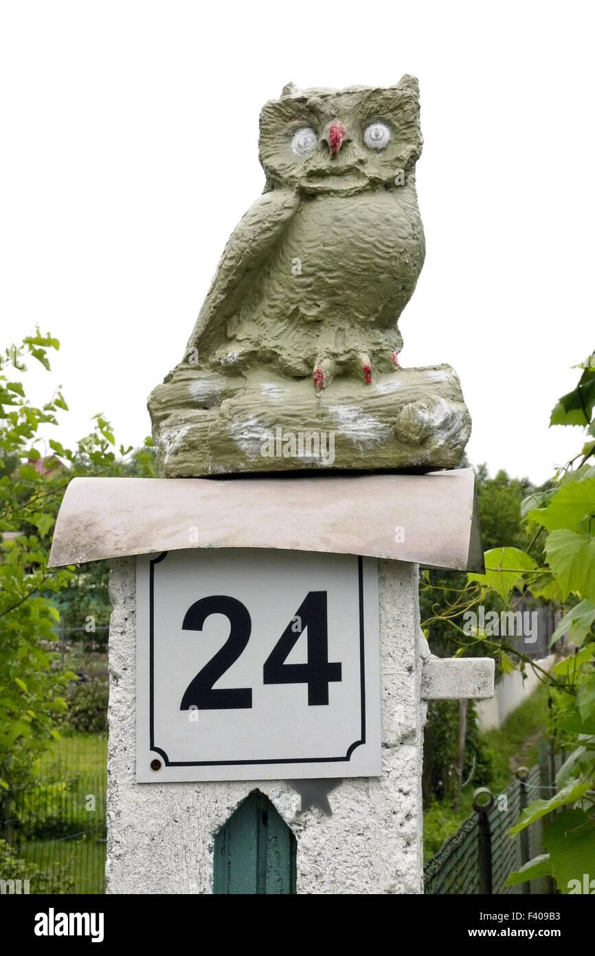 Stone naive owl - Stock Image