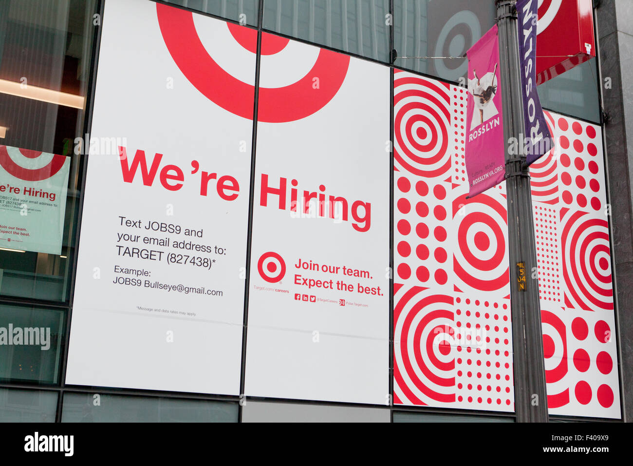 Target department store We're hiring sign  - USA - Stock Image