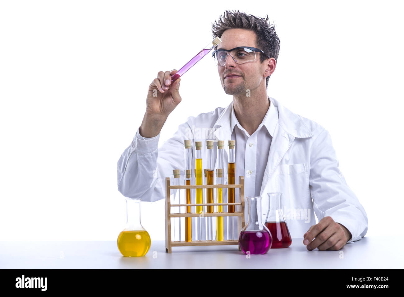 Chemist in the lab - Stock Image