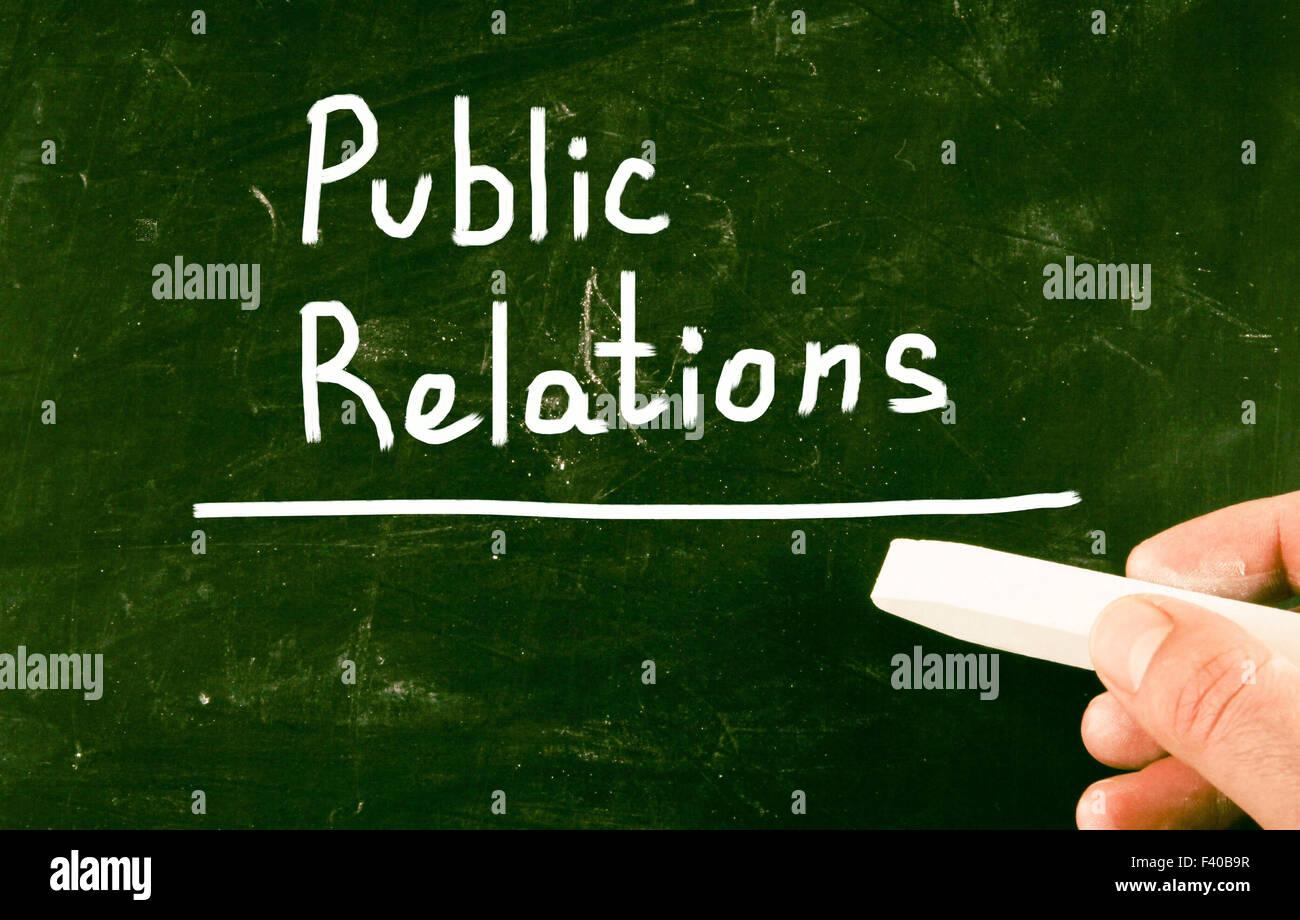 public relations - Stock Image