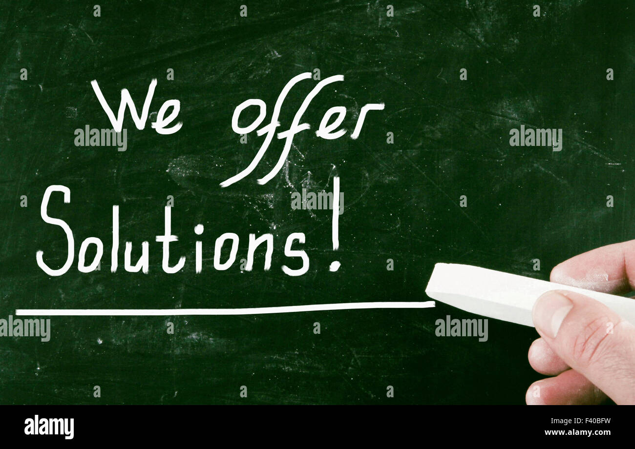 we offer solutions - Stock Image