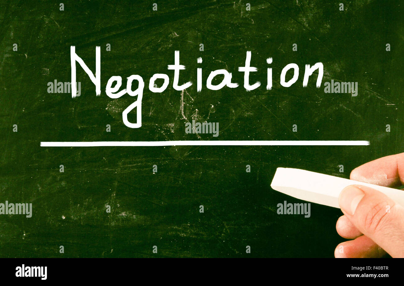 negotiation concept - Stock Image
