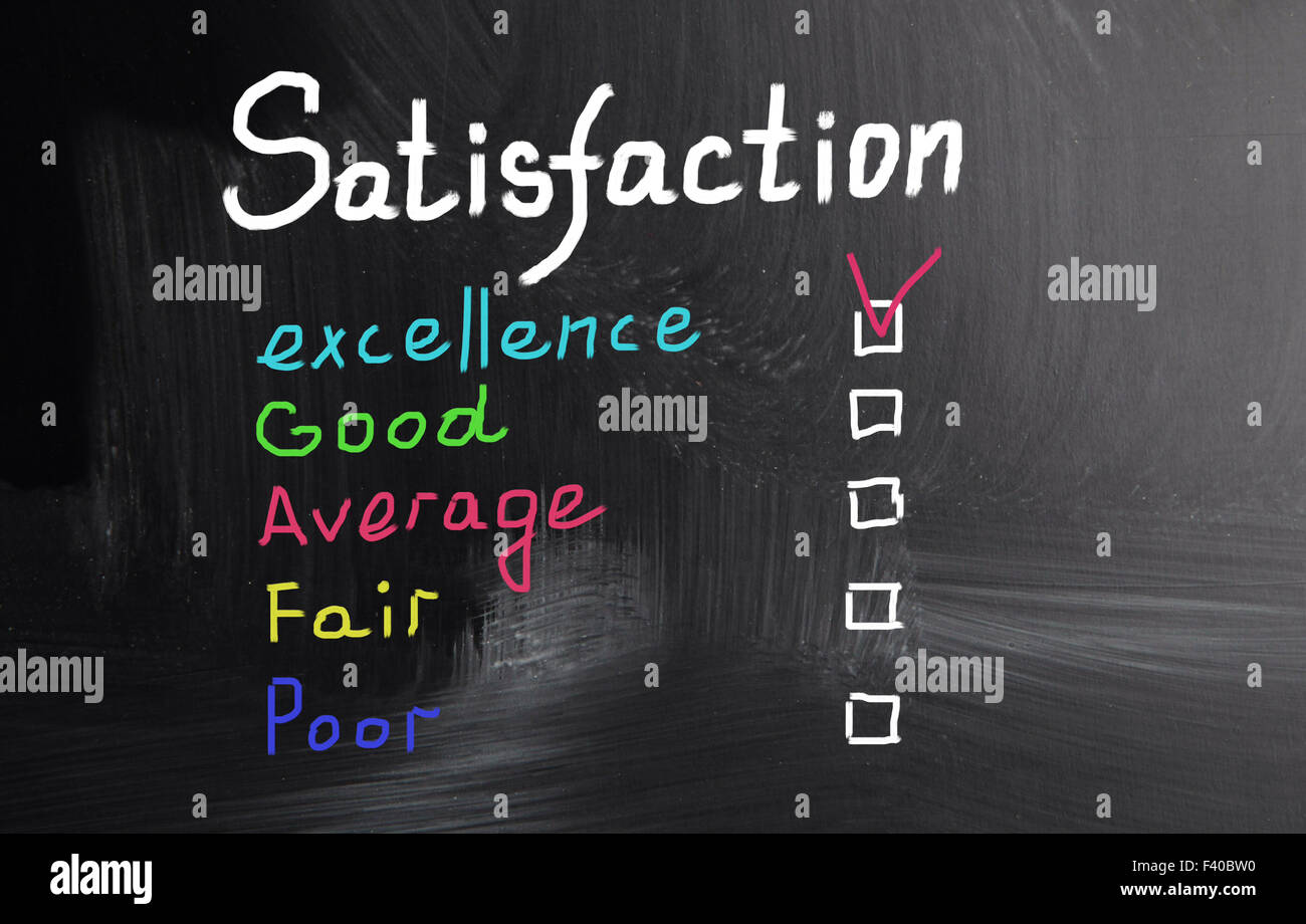 satisfaction concept - Stock Image