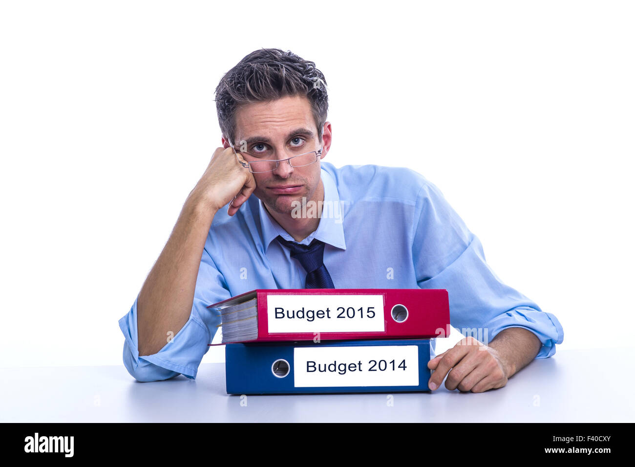 Budget 2014 and Budget 2015 - Stock Image