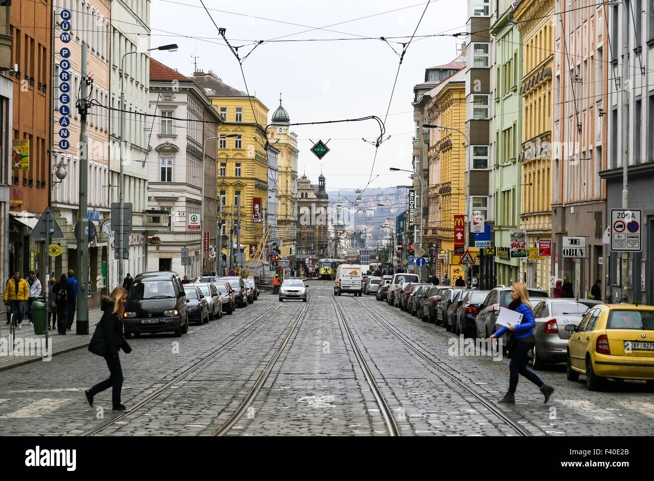 Daily Life in Prague - Stock Image
