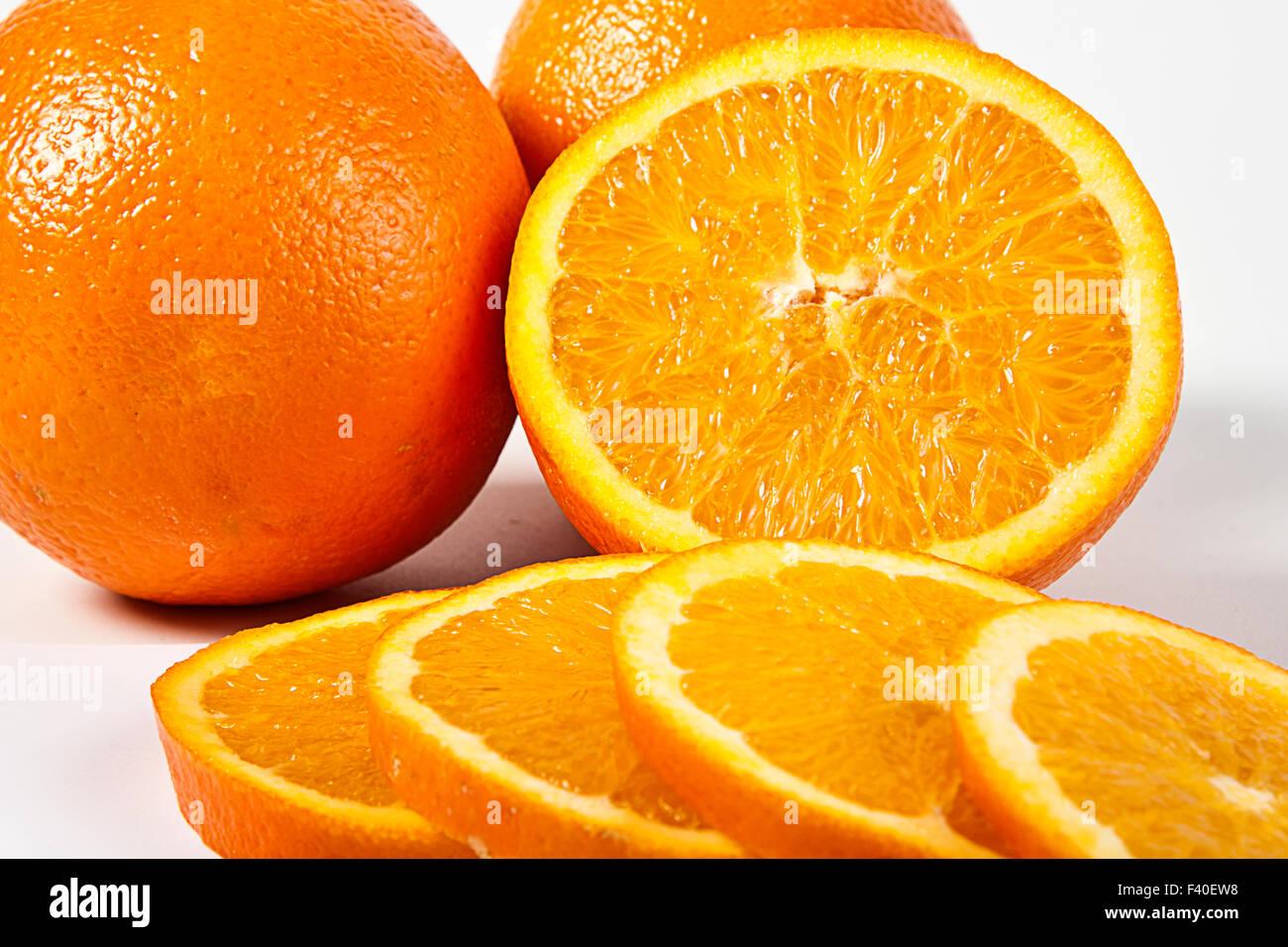 orange slices - Stock Image
