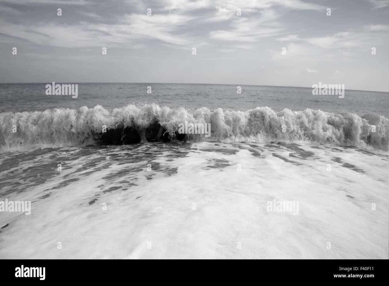 strange sea effect in wave ocean beach - Stock Image