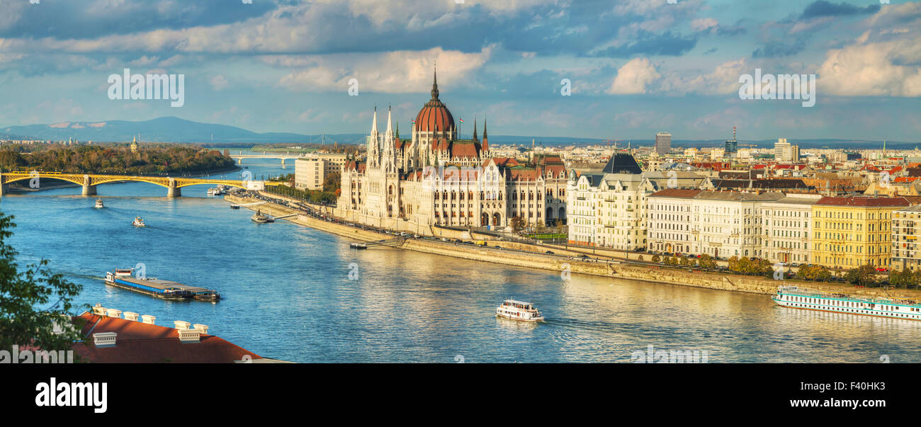 Panoramic overview of Budapest - Stock Image