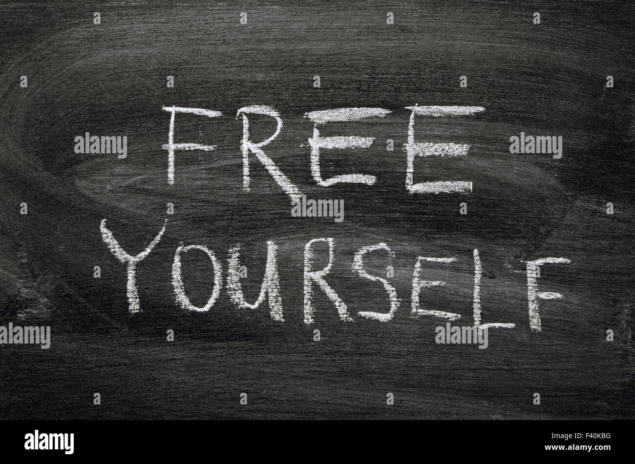 free yourself - Stock Image