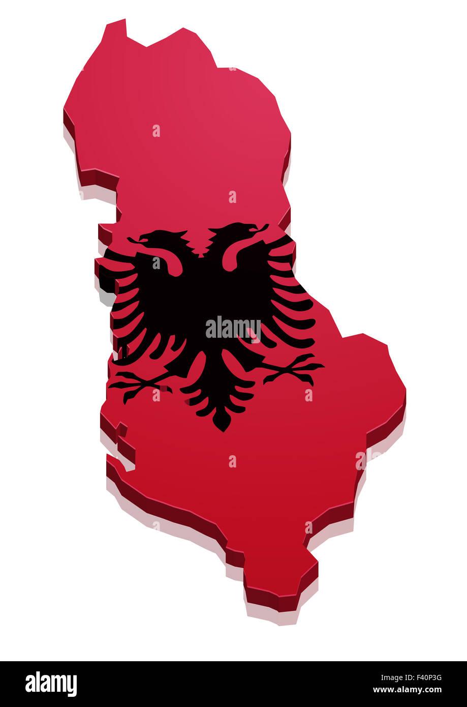 Map Albania - Stock Image