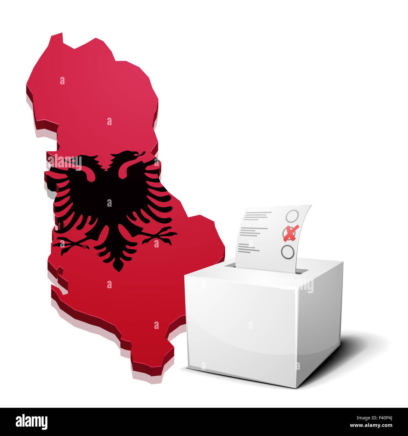 ballotbox Albania - Stock Image
