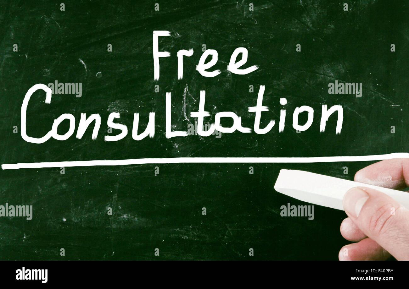 free consultation - Stock Image