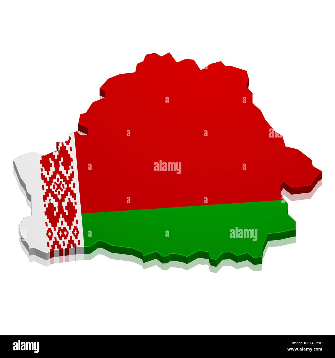 Map Belarus - Stock Image