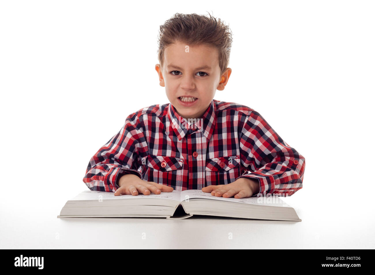 angry student - Stock Image