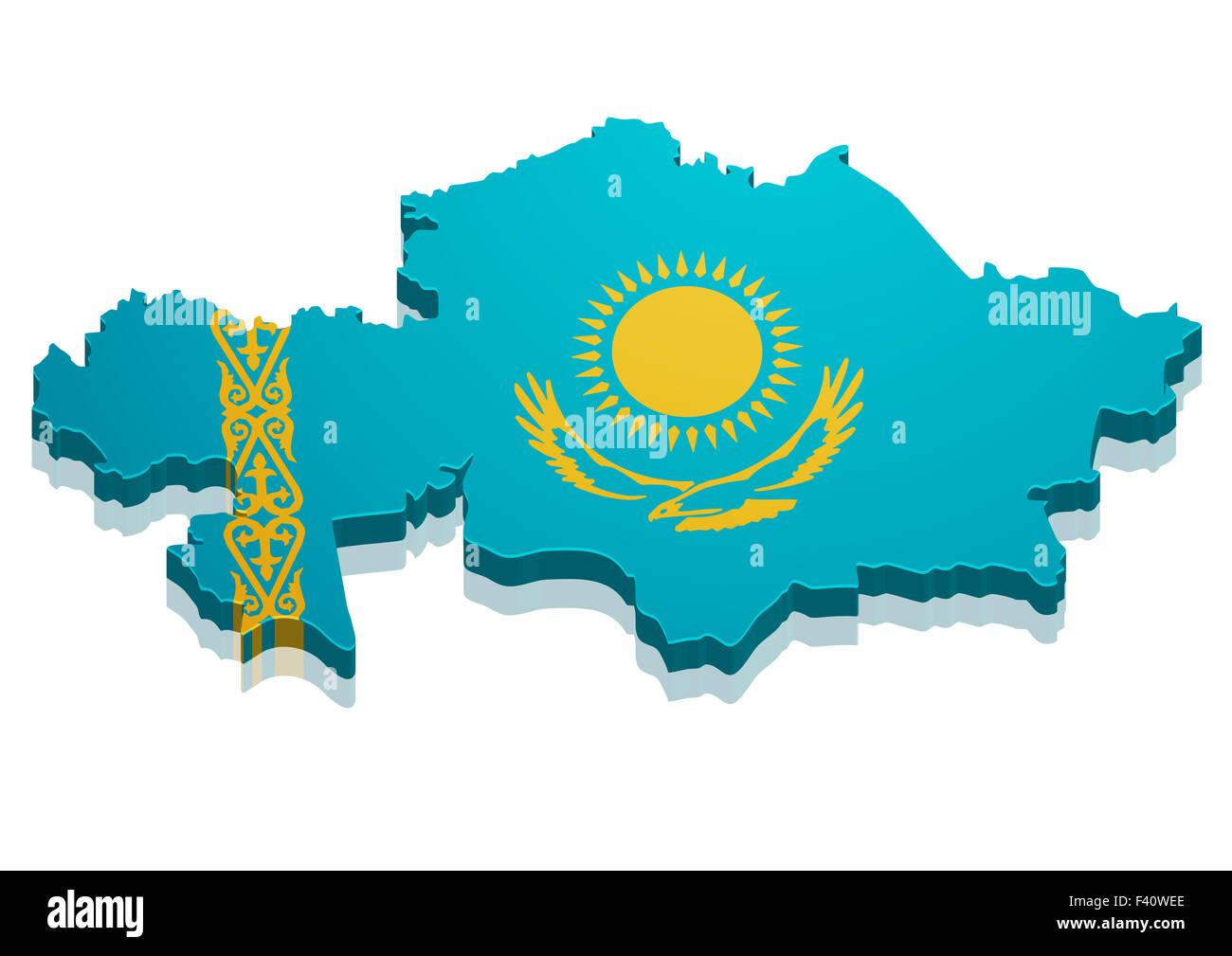 Map Kazakhstan - Stock Image