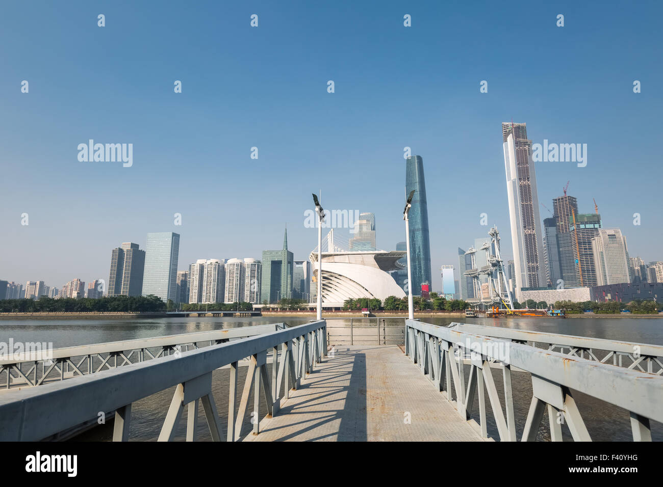 pearl river and modern building - Stock Image