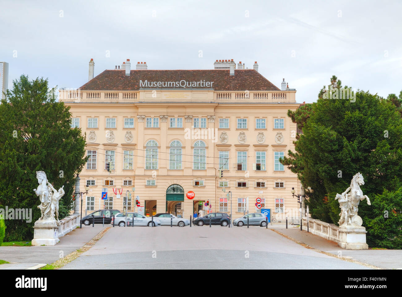 Museums Quartier building in Vienna - Stock Image