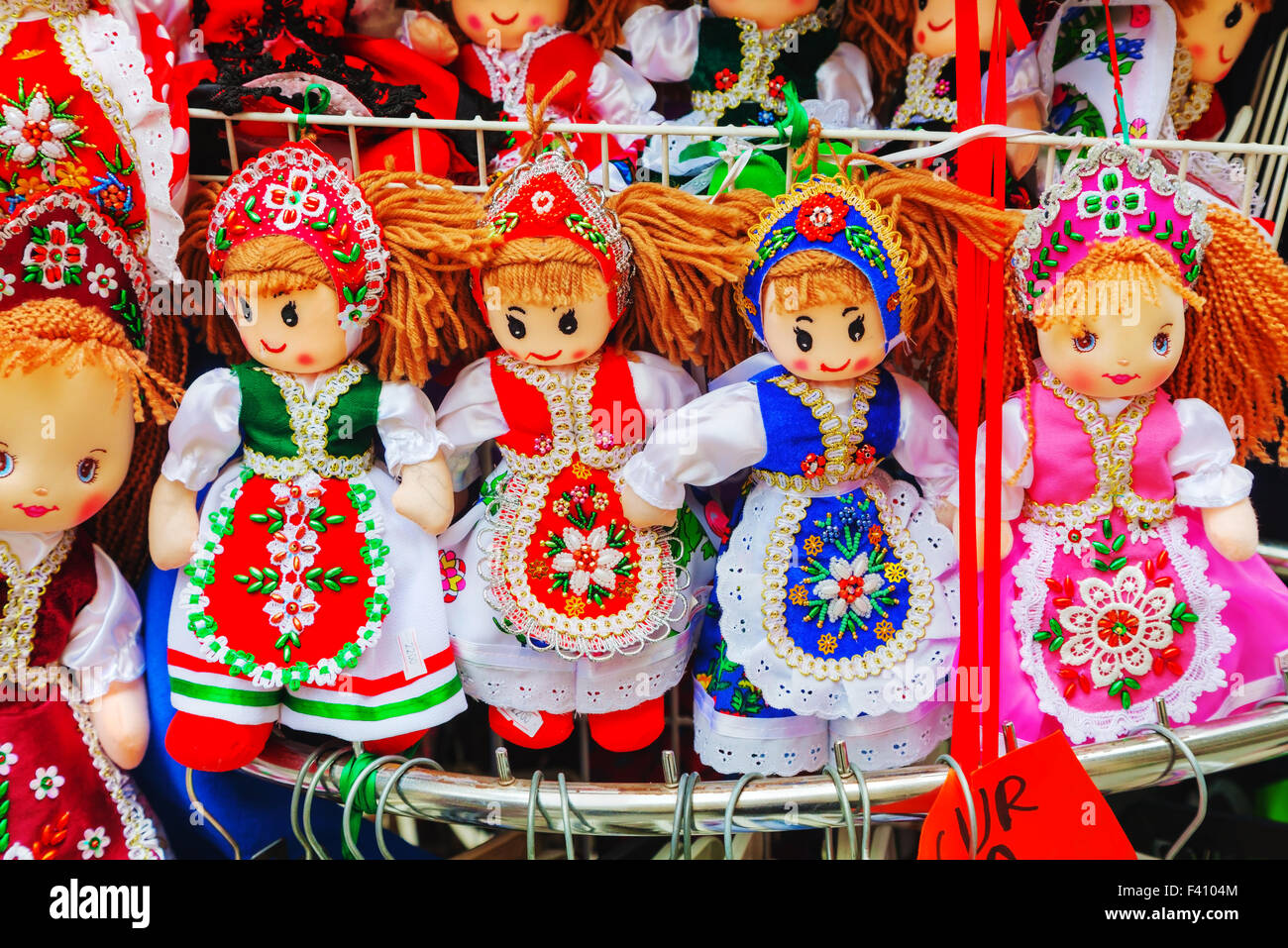 Traditional magyar dolls - Stock Image