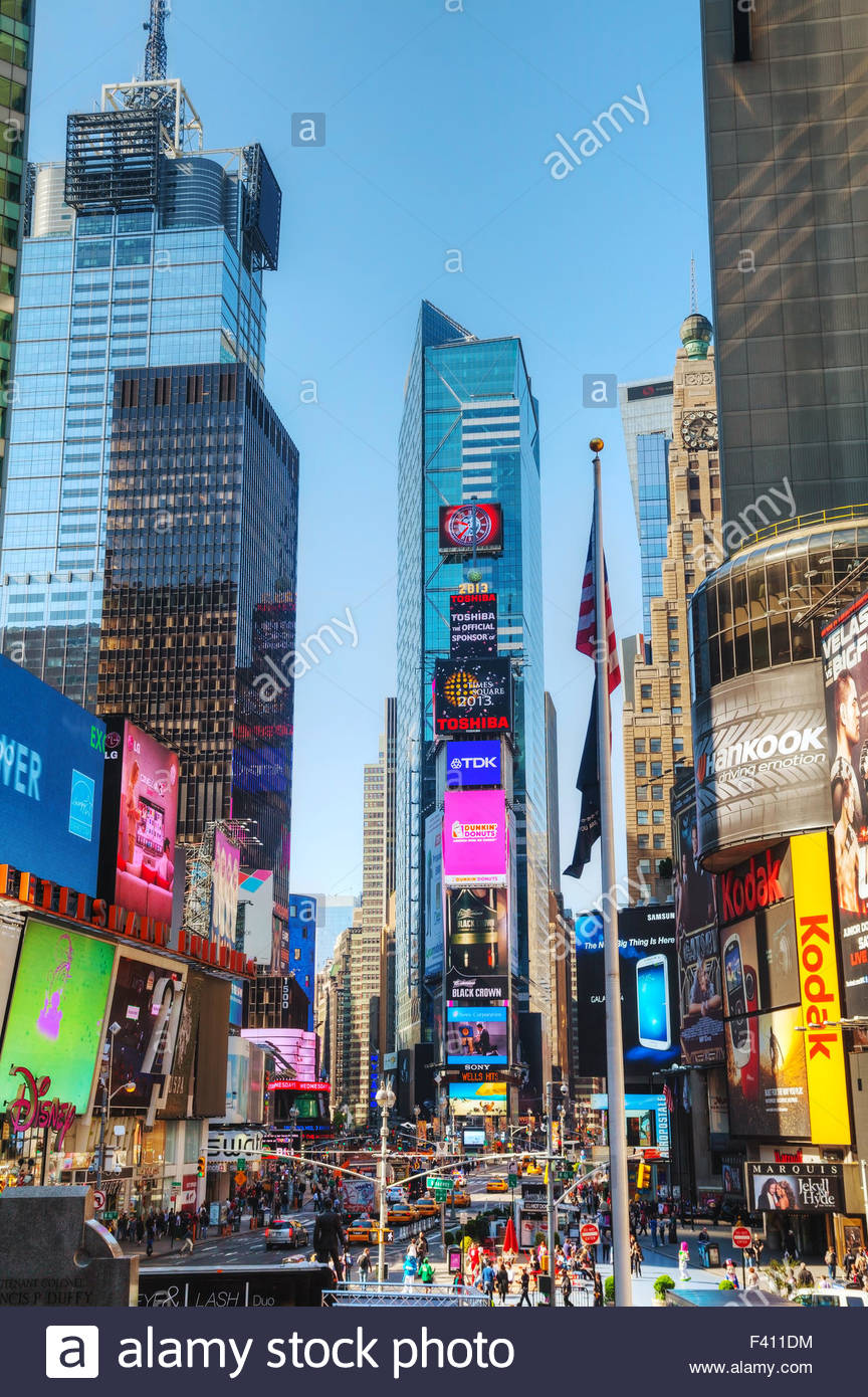 Times square in New York City - Stock Image