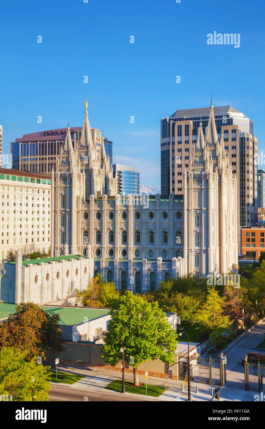 Mormons Temple in Salt Lake City, UT - Stock Image