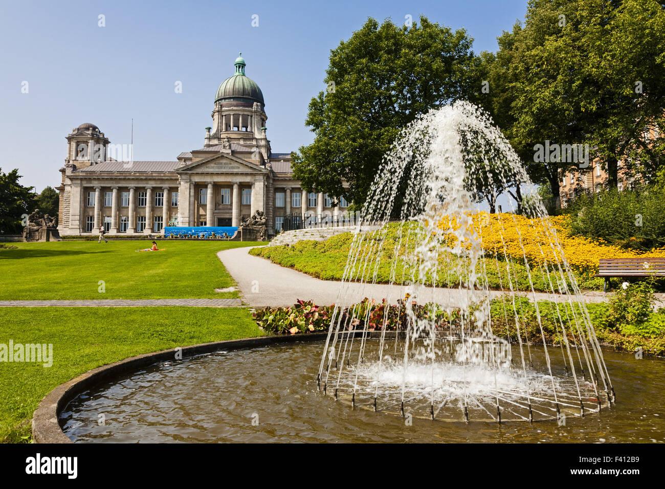 The Hanseatic Higher Regional Court, Hamburg - Stock Image