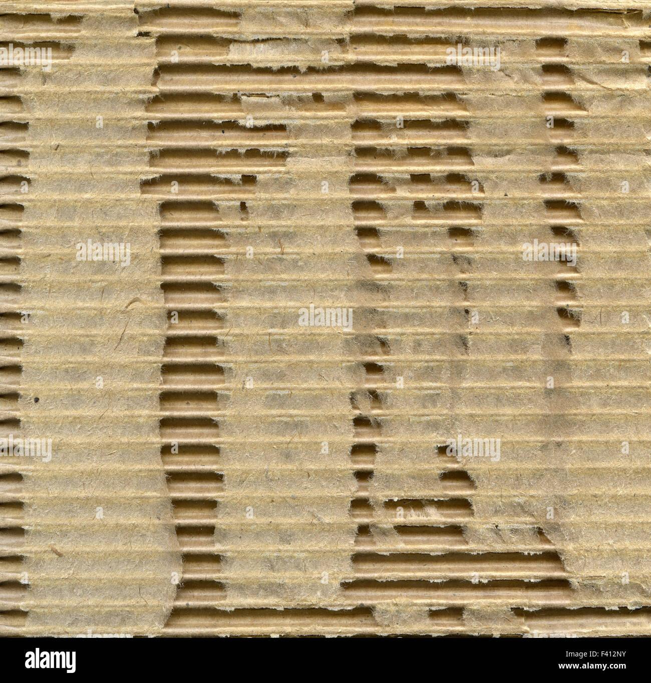 Ragged сardboard - Stock Image