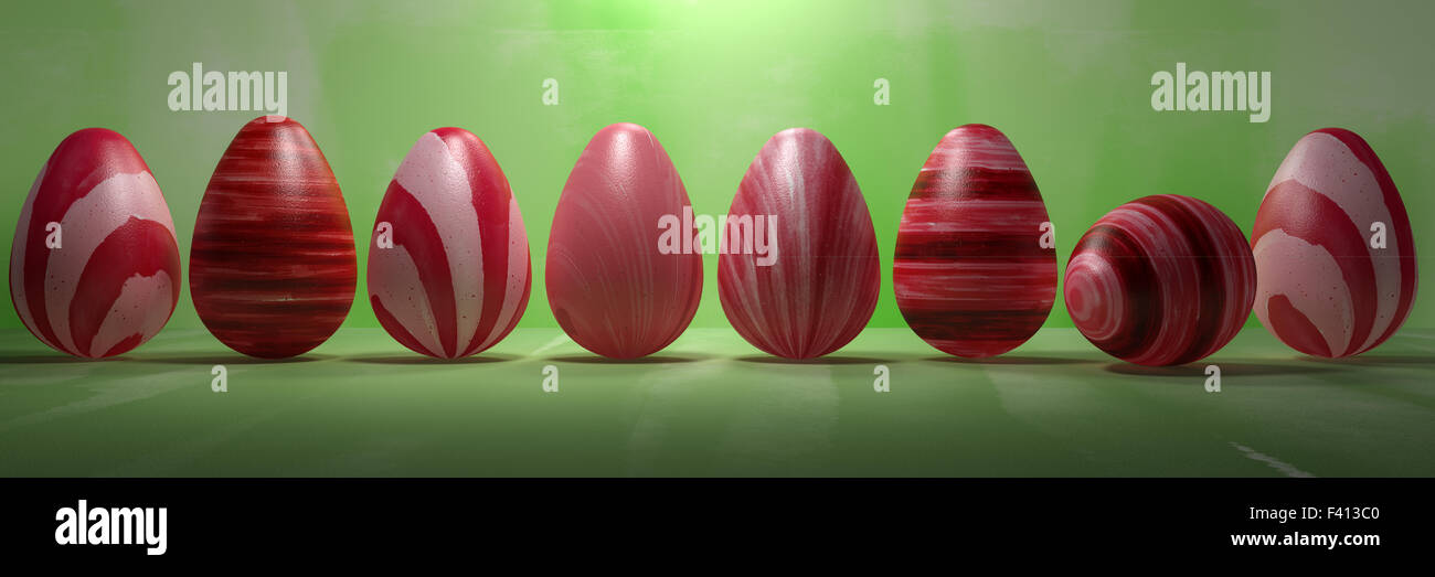 Red Easter Eggs - Stock Image
