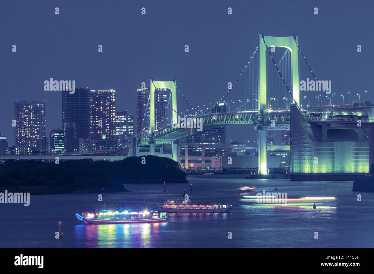 Tokyo Rainbow bridge - Stock Image