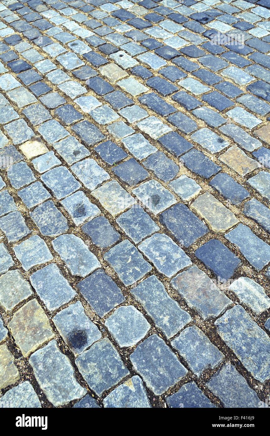 cobblestone pavement - Stock Image