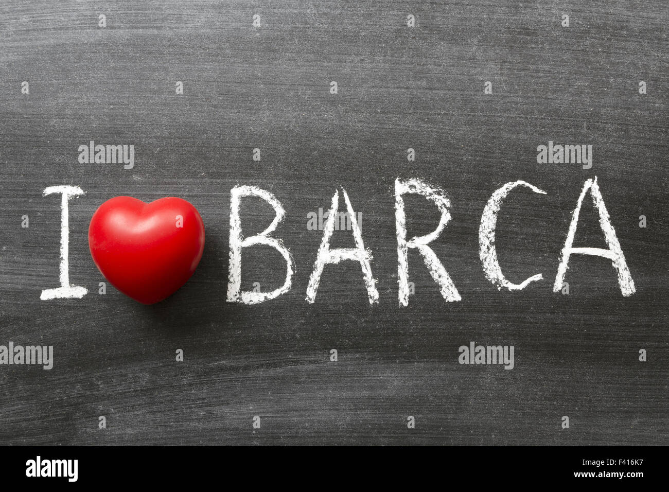 I love Barca - Stock Image