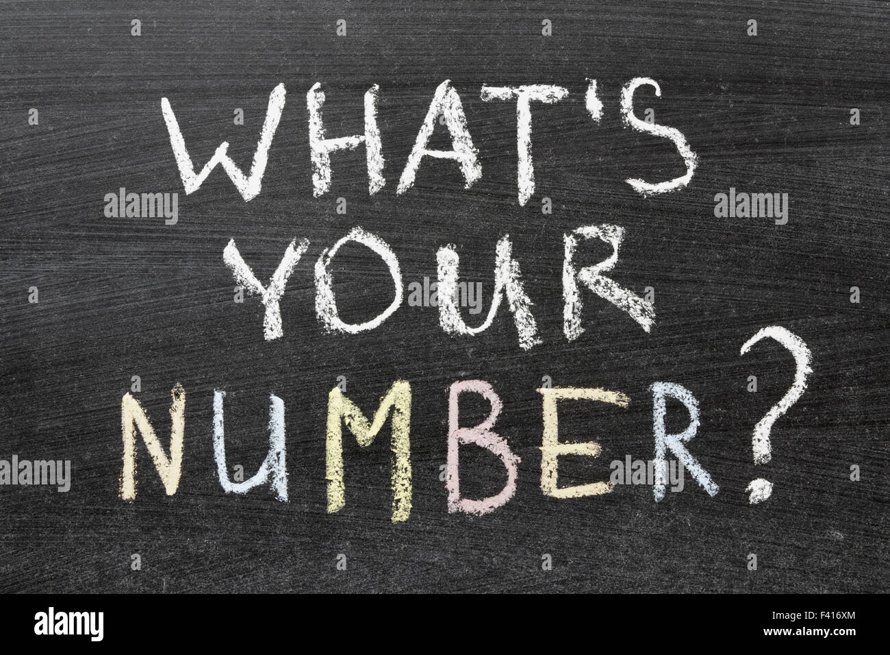 whats your number - Stock Image