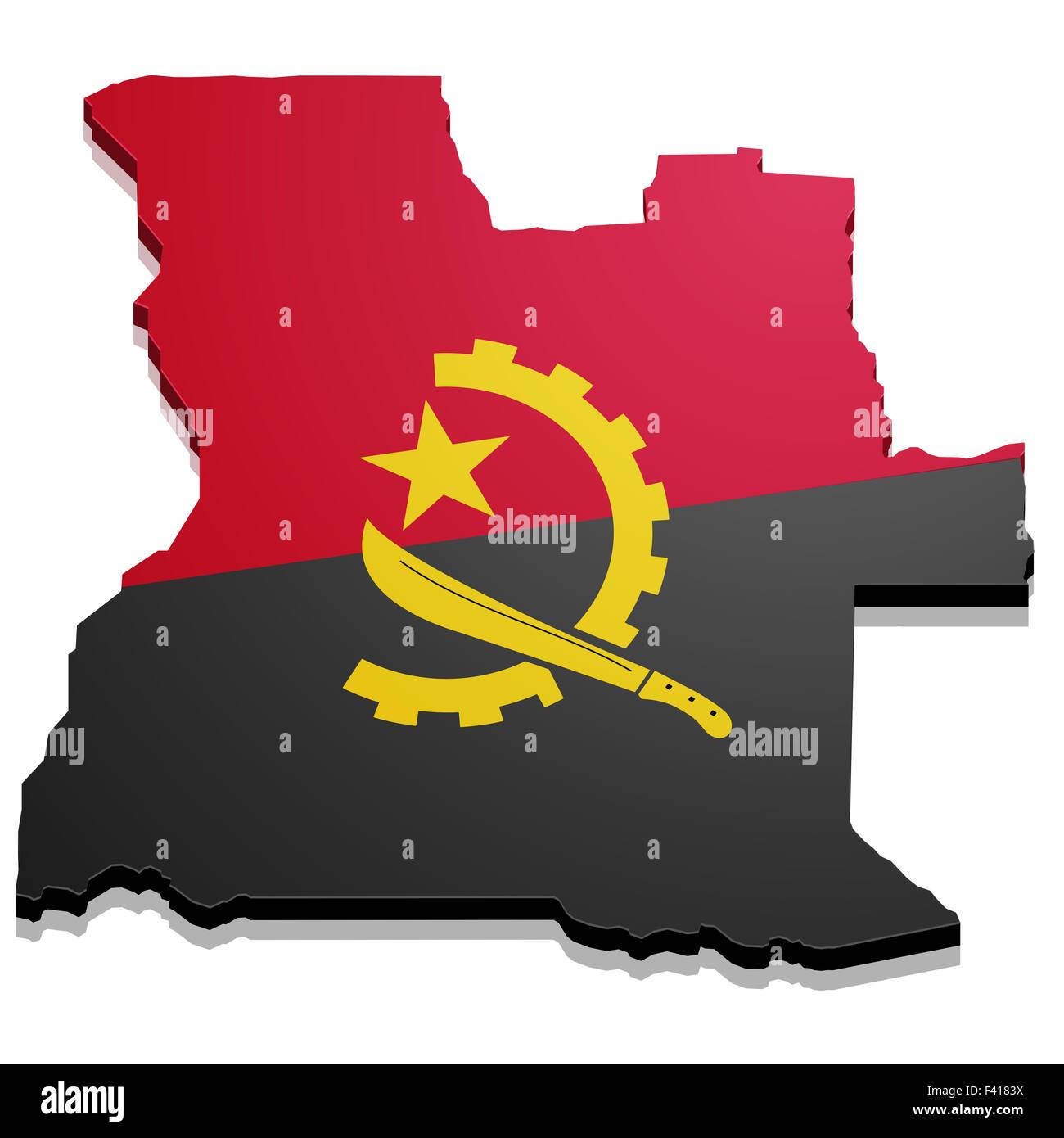 Map Angola - Stock Image