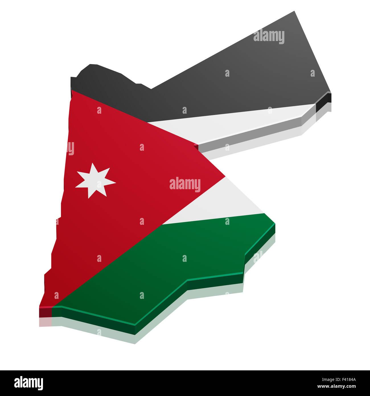 Map Jordan - Stock Image