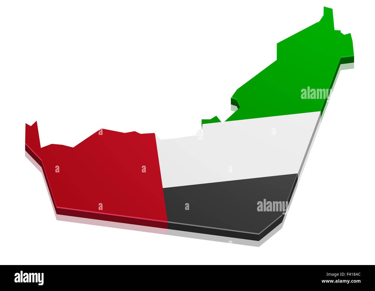Map UAE - Stock Image