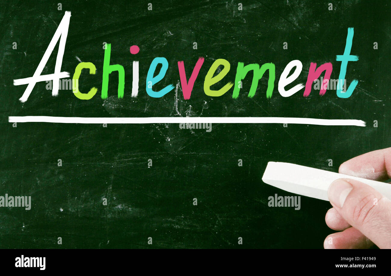 achievement concept - Stock Image