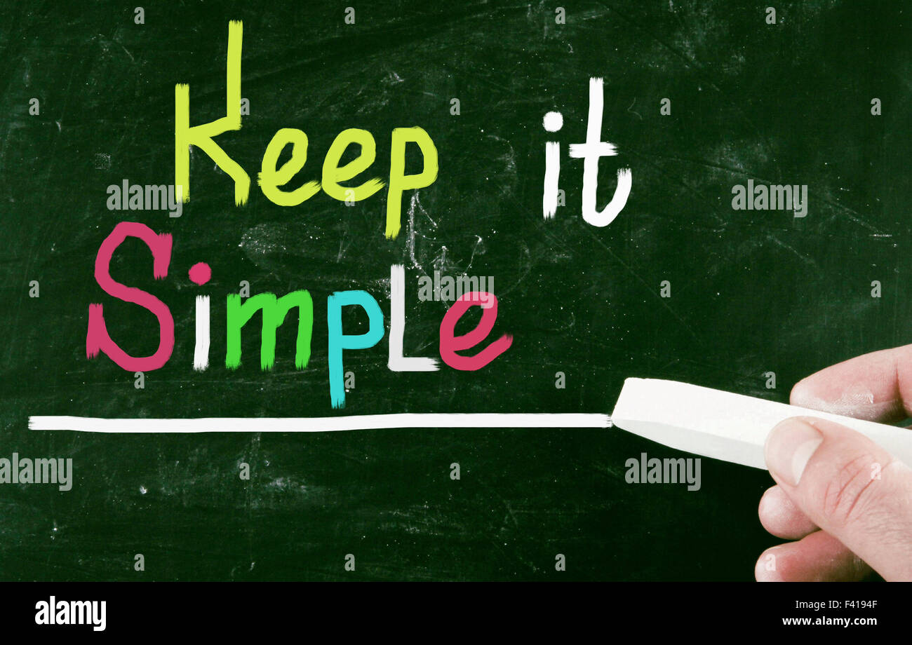 keep it simple - Stock Image