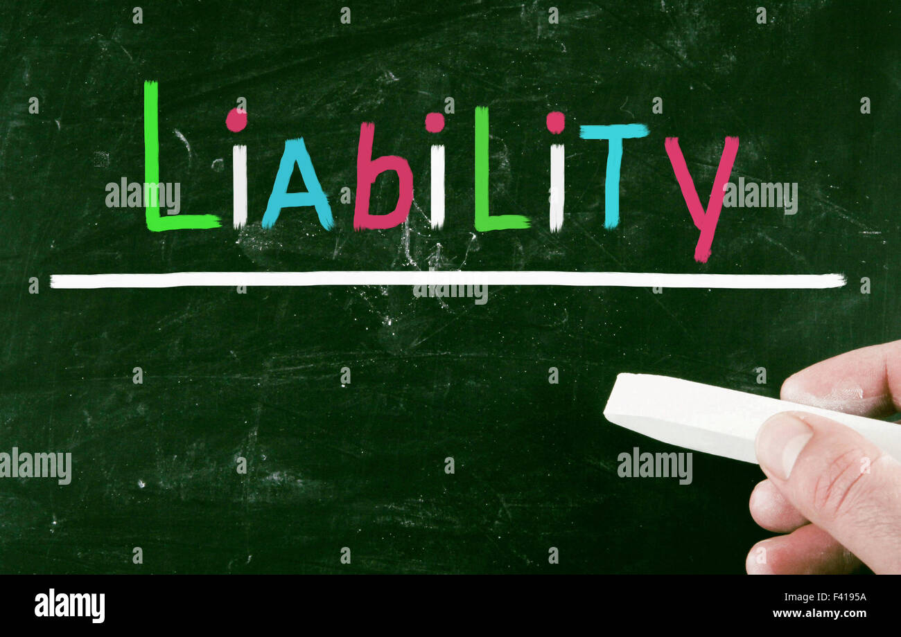 liability concept - Stock Image