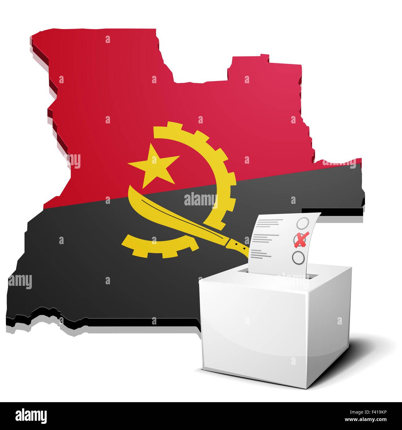 ballotbox Angola - Stock Image
