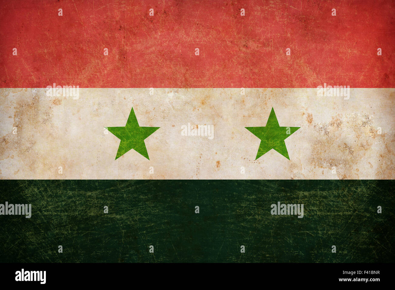 Syria flag on grunge old paper background Stock Photo