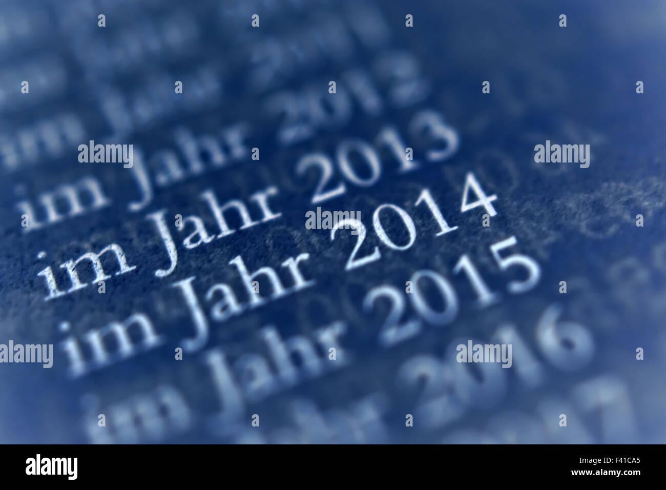 Year Dates Stock Photo