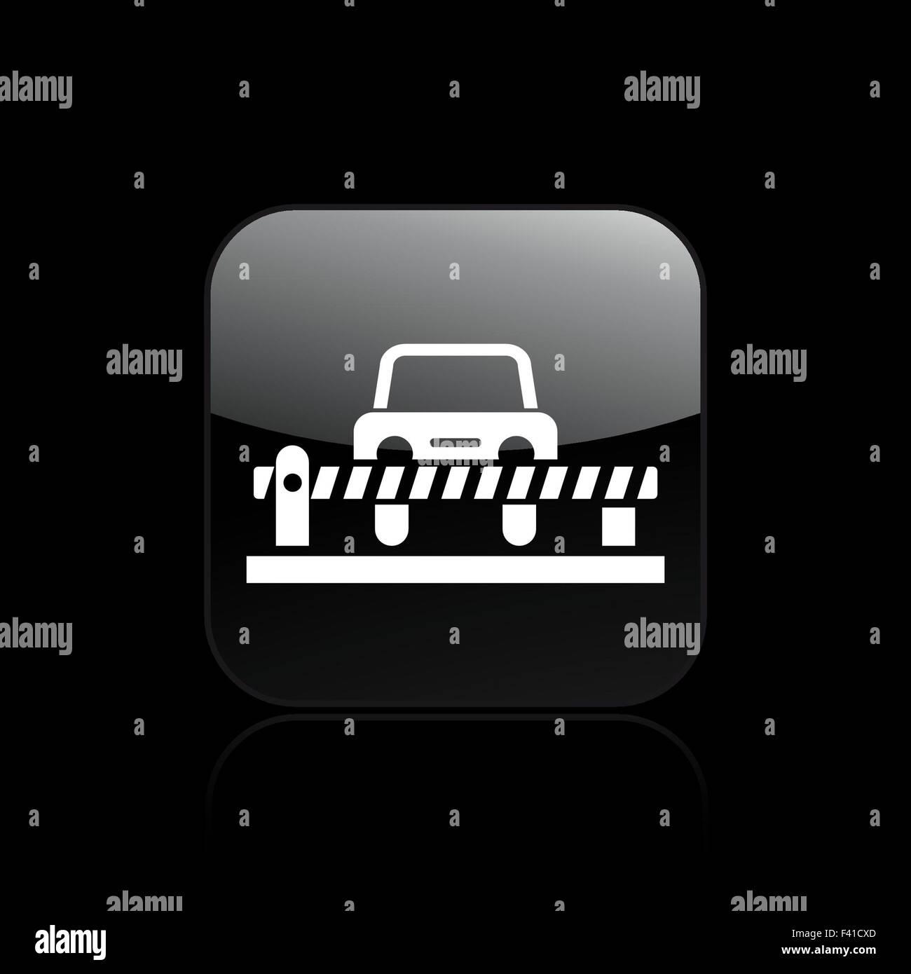 Vector illustration of single bar icon - Stock Image