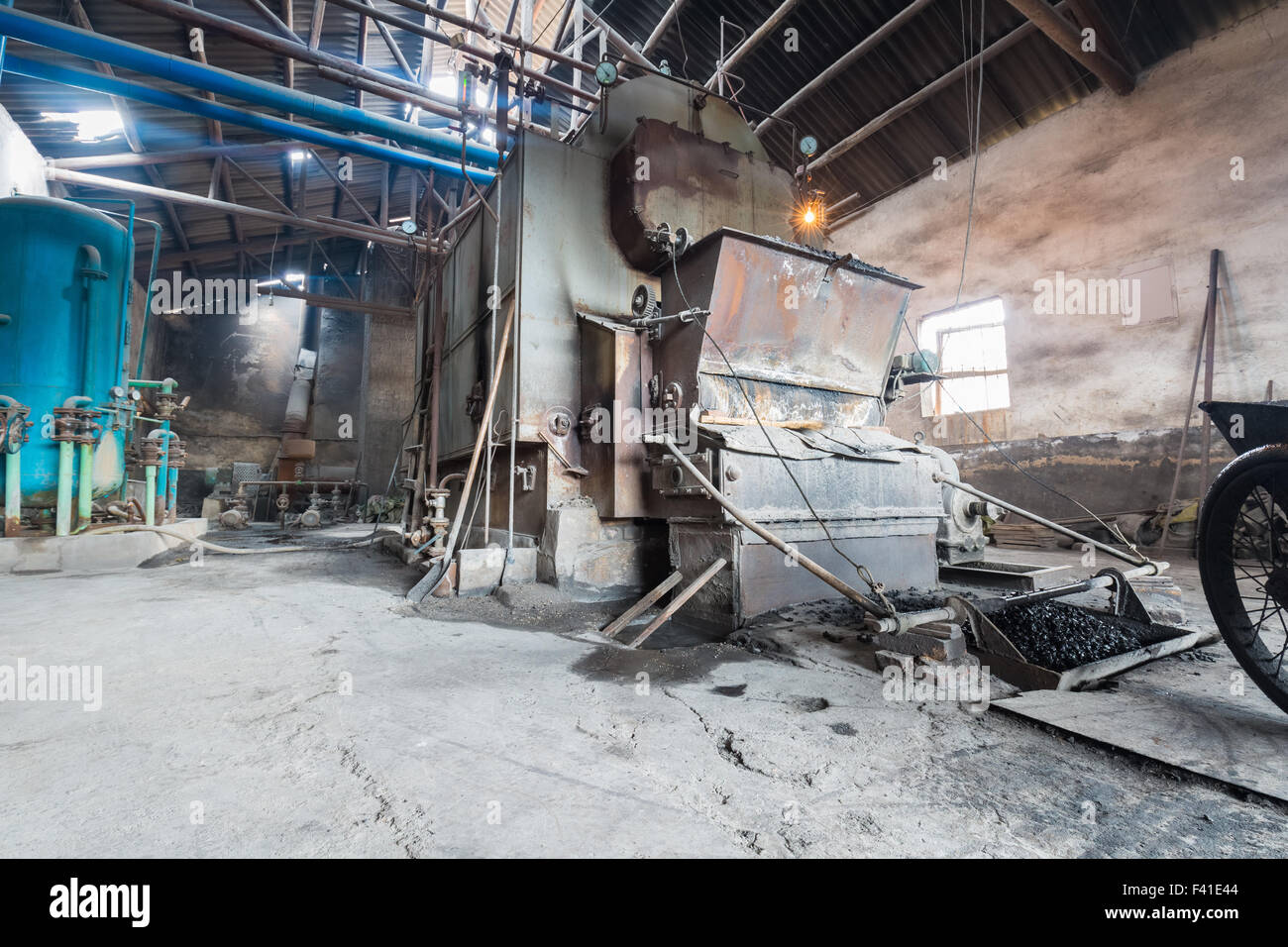 old boiler - Stock Image