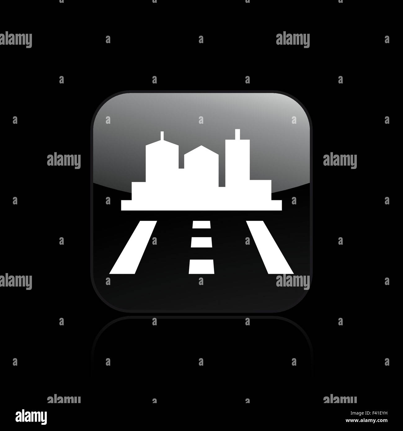 Vector illustration of single navigate icon - Stock Image