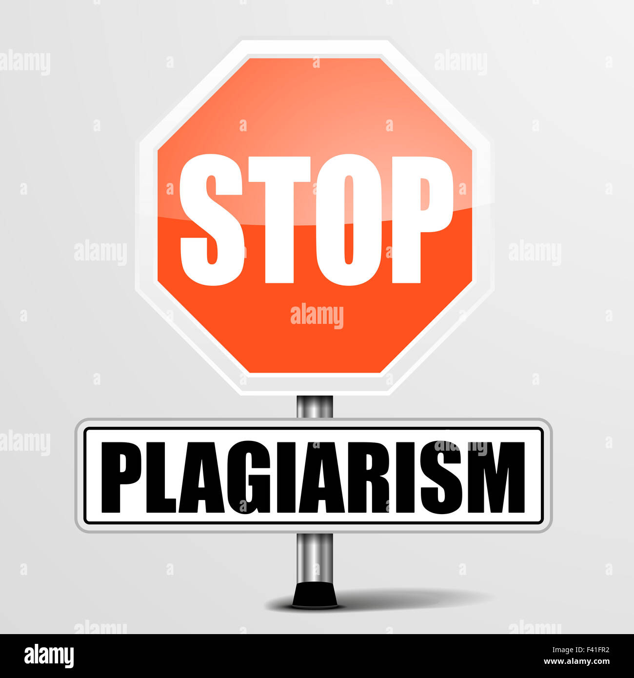 Stop Plagiarism - Stock Image