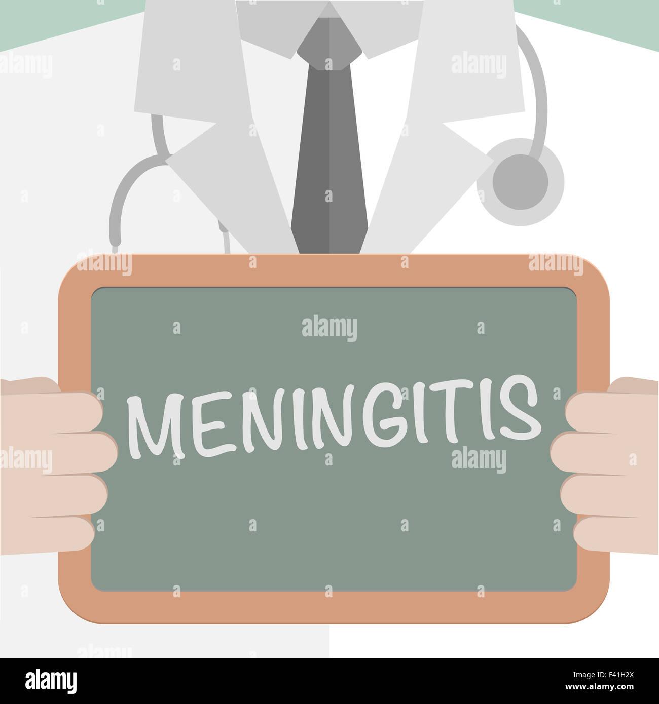 Medical Board Meningitis - Stock Image
